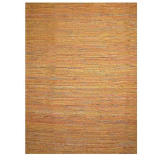 Herat Oriental Indo Hand-tufted Chenille Flatweave Contemporary Rug (10' x 13')