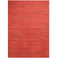 Herat Oriental Indo Hand-tufted Chenille Flatweave Contemporary Rug (6'6 x 8'6) - 6'6 x 8'6