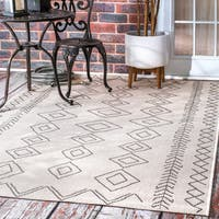 The Curated Nomad Delmar Moroccan Ivory Indoor/Outdoor Area Rug - 6'3 x 9'2