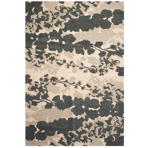"Handmade Herat Oriental Indo Chenille Flatweave Ikat Rug (India) - 6'9"" x 9'6"""