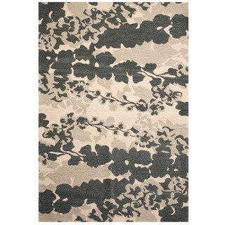Handmade Herat Oriental Indo Chenille Flatweave Ikat Rug (India) - 6'9 x 9'6