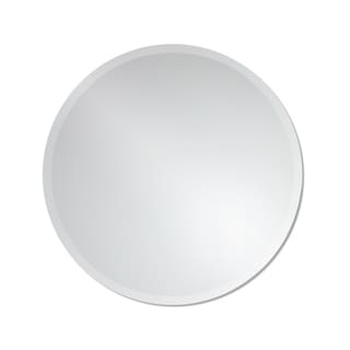 Frameless Round Wall Mirror by The Better Bevel