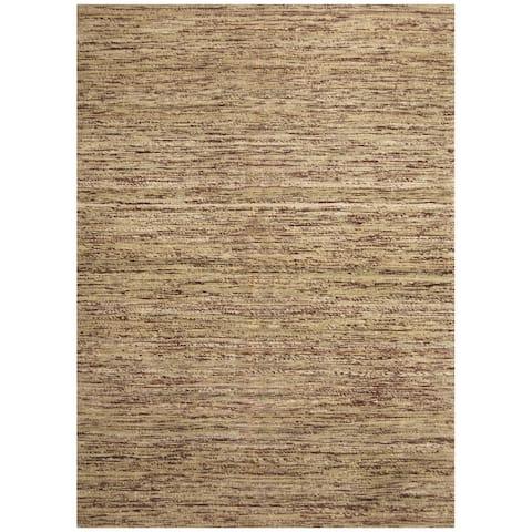 "Handmade Chenille Flatweave Rug (India) - 6'6"" x 8'6"""