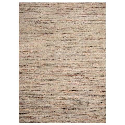 "Handmade Chenille Flatweave Rug (India) - 6'7"" x 6'7"" Square/Surplus"