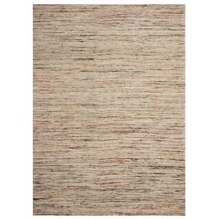 Herat Oriental Indo Hand-tufted Chenille Flatweave Contemporary Rug (6'6 x 8'6)