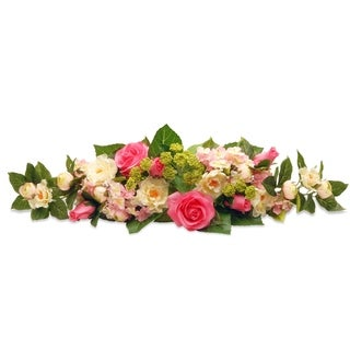 """24.5"""" Rose and Hydrangea Swag"""