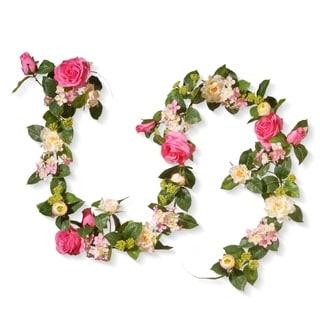 "72"" Rose and Hydrangea Garland"