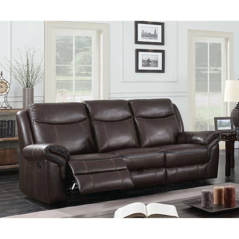 Furniture of America Yeln Transitional Brown Reclining Sofa