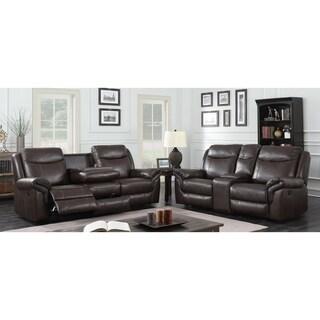 Furniture of America Yeln Brown 2-piece Reclining Sofa Set