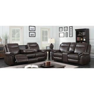 Buy Leather Living Room Furniture Sets Online At Overstock.com | Our Best Living  Room Furniture Deals