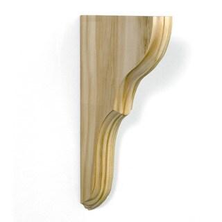 InPlace 12-pack Unfinished Wood Oxford Shelf Bracket