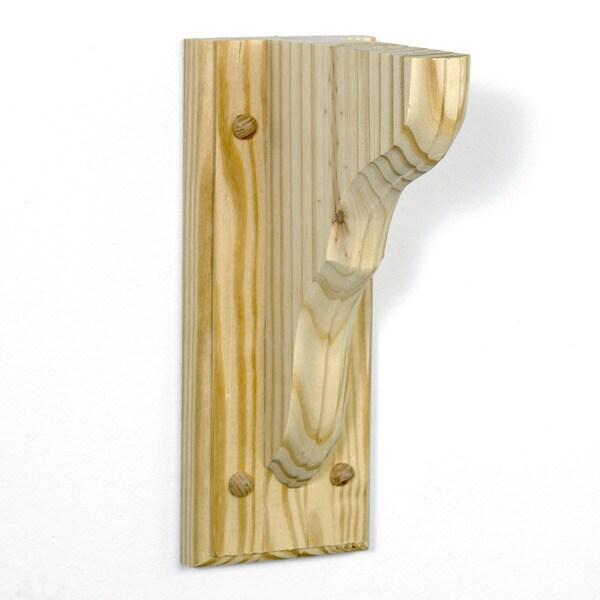 InPlace 12-pack Unfinished Wood Hampton Shelf Bracket