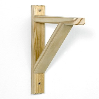 InPlace 10-pack Unfinished Wood Potomac Shelf Bracket