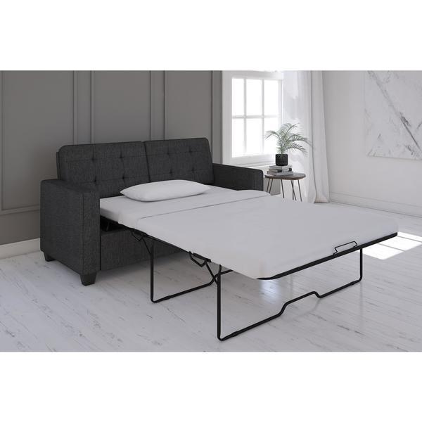 Porch U0026amp; Den Isleton Grey Linen Queen Sleeper Sofa With CertiPUR US  Certified Memory