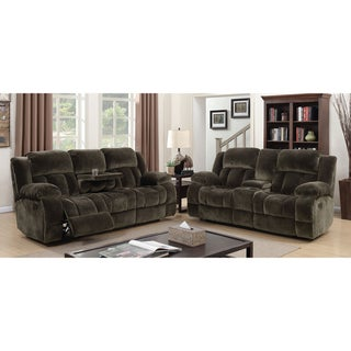 Furniture of America Ric Traditional Brown 3-piece Reclining Sofa Set