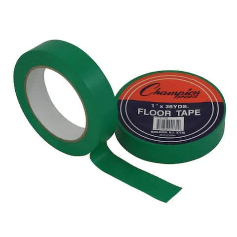 "Champion Sports Floor Tape, 1"" x 36 yd, Green, Bundle of 6"