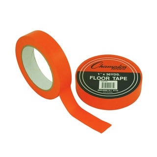 "Champion Sports Floor Tape, 1"" x 36 yd, Orange, Bundle of 6"