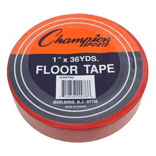 "Champion Sports Floor Tape, 1"" x 36 yd, Red, Bundle of 6"