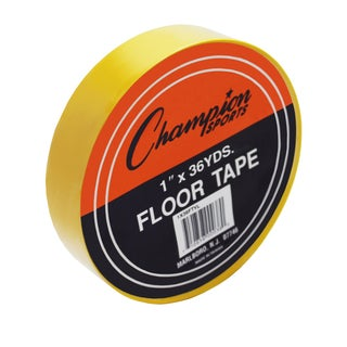 "Champion Sports Floor Tape, 1"" x 36 yd, Yellow, Bundle of 6"