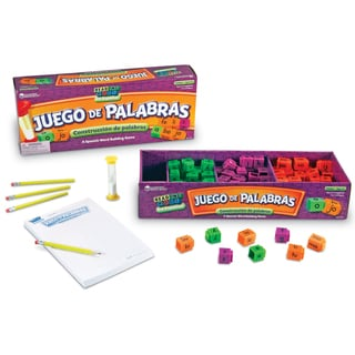 Learning Resources Juego de Palabras Spanish Reading Rods® Word Game