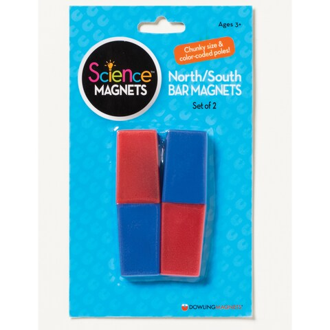 North/South Bar Magnets, Bundle of 6