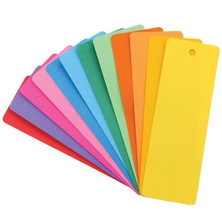 Hygloss Mighty Bright Bookmarks, 100 Assorted Colors Per Pack, Bundle of 4