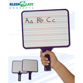 KleenSlate® Hand Held Dry Erase Paddle Classroom Kit, Blank/Handwriting, Pack of 32