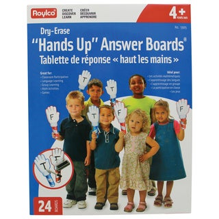 "Roylco ""Hands Up"" Dry-Erase Answer Boards"
