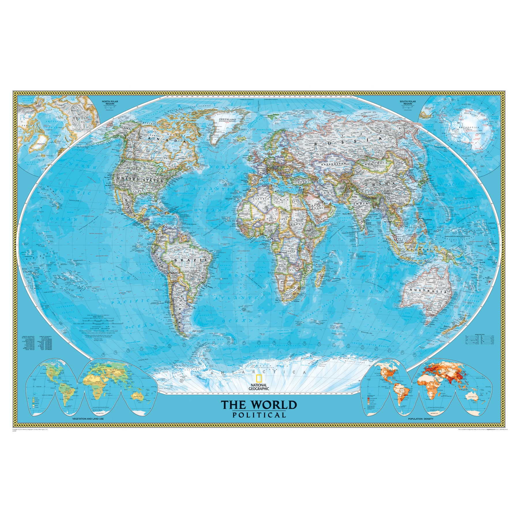 National Geographic World Mural Map