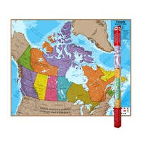 Hemispheres Laminated Map, Canada