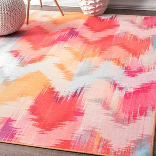 nuLOOM Contempory Abstract Flamestitch Chevron Multi Rug (5' x 7'5)