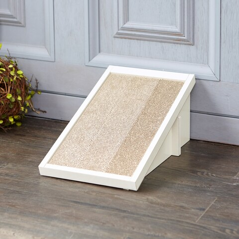 Eco Friendly Cat Scratcher Incline, White LIFETIME GUARANTEE