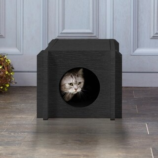 Eco Friendly Cat House Condo, Black by Way Basics LIFETIME GUARANTEE
