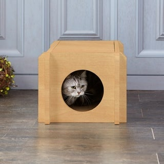 Eco Friendly Cat House Condo, Natural LIFETIME GUARANTEE