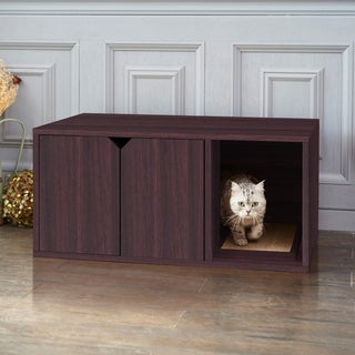 Eco Modern Cat Litter Box Furniture, Espresso LIFETIME GUARANTEE