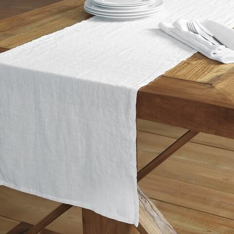 Washed Belgian Linen Table Runner