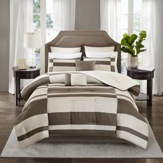 Madison Park Daniel Natural Printed Brushed 8-piece Comforter Set