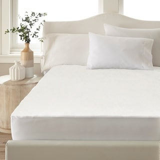 Amrapur Overseas Ultra-Thin Hypoallergenic Waterproof Mattress Protector - White