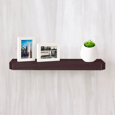 "Eco 24"" Uniq Floating Wall Shelf, Espresso LIFETIME GUARANTEE"