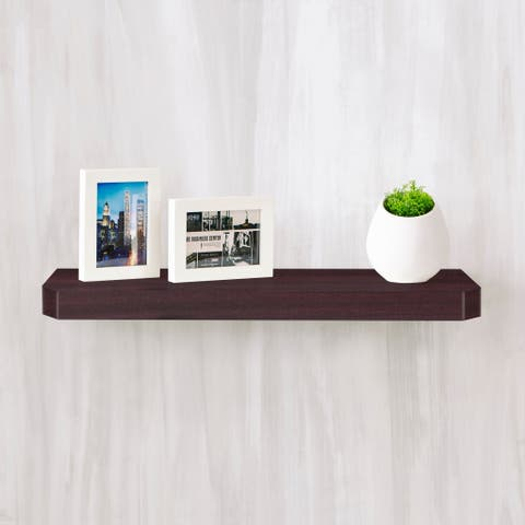 "Eco 24"" Uniq Floating Wall Shelf, Espresso LIFETIME GUARANTEE"