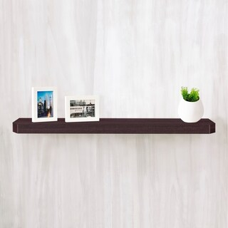 "Eco 36"" Uniq Floating Wall Shelf, Espresso LIFETIME GUARANTEE"