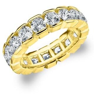 Amore 14K Yellow Gold 4.0 CT TDW Round Brilliant Diamond Eternity Band - White H-I