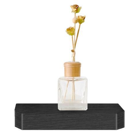 "Eco 10"" Uniq Floating Decorative Wall Shelf, Black LIFETIME GUARANTEE"