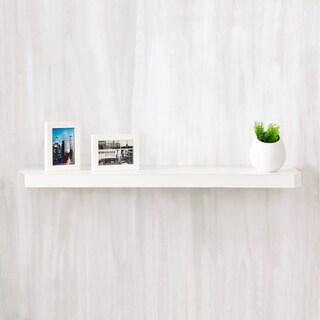 "Eco 36"" Uniq Floating Decorative Wall Shelf, White LIFETIME GUARANTEE"