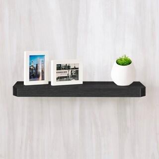 "Eco 24"" Uniq Floating Decorative Wall Shelf, Black LIFETIME GUARANTEE"