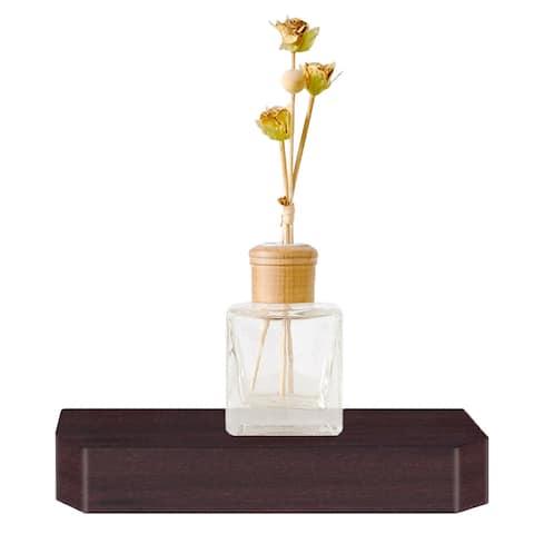 "Eco 10"" Uniq Floating Wall Shelf, Espresso LIFETIME GUARANTEE"