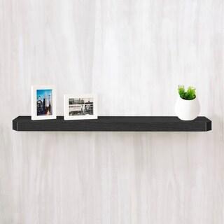 "Eco 36"" Uniq Floating Decorative Wall Shelf, Black LIFETIME GUARANTEE"
