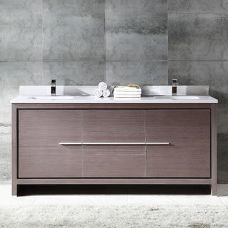 double sink bathroom cabinets. Fresca Allier 72 inch Grey Oak Modern Double Sink Bathroom Cabinet with Top  and Sinks Size Vanities Vanity Cabinets For Less