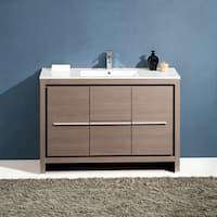 Fresca Allier 48-inch Grey Oak Modern Bathroom Cabinet