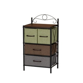 Household Essentials 4-Drawer Side Table